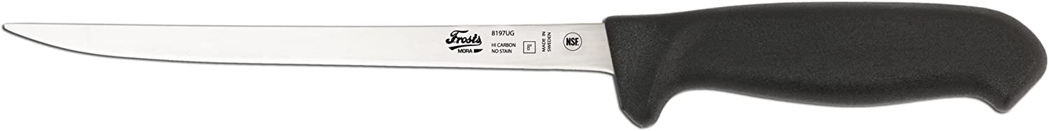 Frosts by Mora of Sweden 8197UG Narrow Filleting Knife with 7.8Inch Stainless Steel Blade