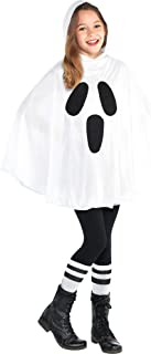 Kids White Ghost Poncho- 1 pc.