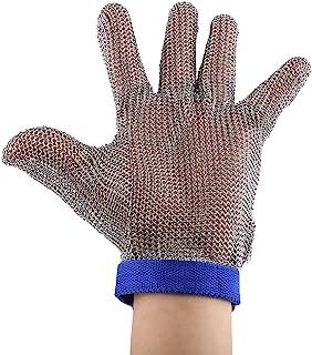 304L stainless steel mesh Cut Resistant di catena mail guanto da cucina da macellaio a prova di processo di carne strumento di sicurezza livello 5ad alte prestazioni della ambidestro 1PCS (grande)