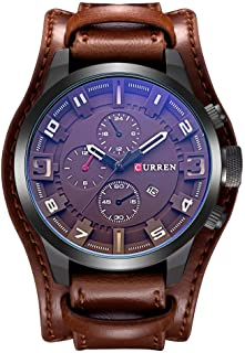 CURREN Original Men's Sports Waterproof Leather Strap Date Wrist Watch Good Quality 8225