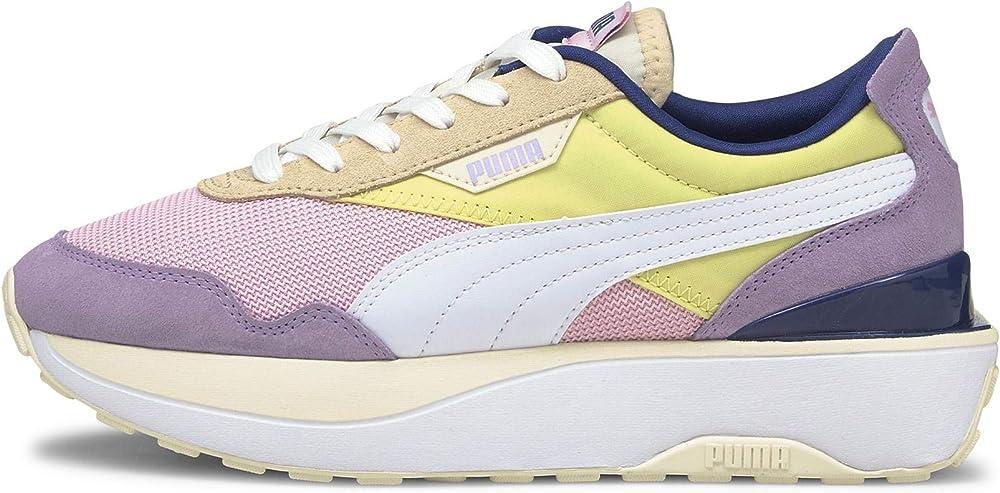 Puma cruise rider silk wn`s scarpe sneakers da donna in tessuto e pelle sintetica 37507201