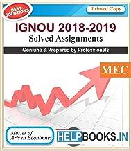 IGNOU Solved Assignments MA Economics | MEC1, MEC2, MEC3, MEC4, MEC105 | English Medium | Printed Copy | 2018-2019 | copyrights Helpbooks.in*