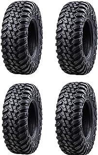 Bundle - Four Tusk TERRABITE Heavy Duty 8-Ply DOT Radial UTV/ATV Tires - 27x9-14
