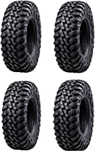 Bundle - Four Tusk TERRABITE Heavy Duty 8-Ply DOT Radial UTV/ATV Tires - 28x10-14