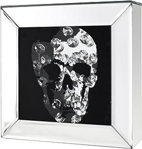 Invicta Interior Exklusive Wandskulptur Bild MIRROR SKULL Diamond Skull 20x20 cm Wandbild Accessoire Dekoration