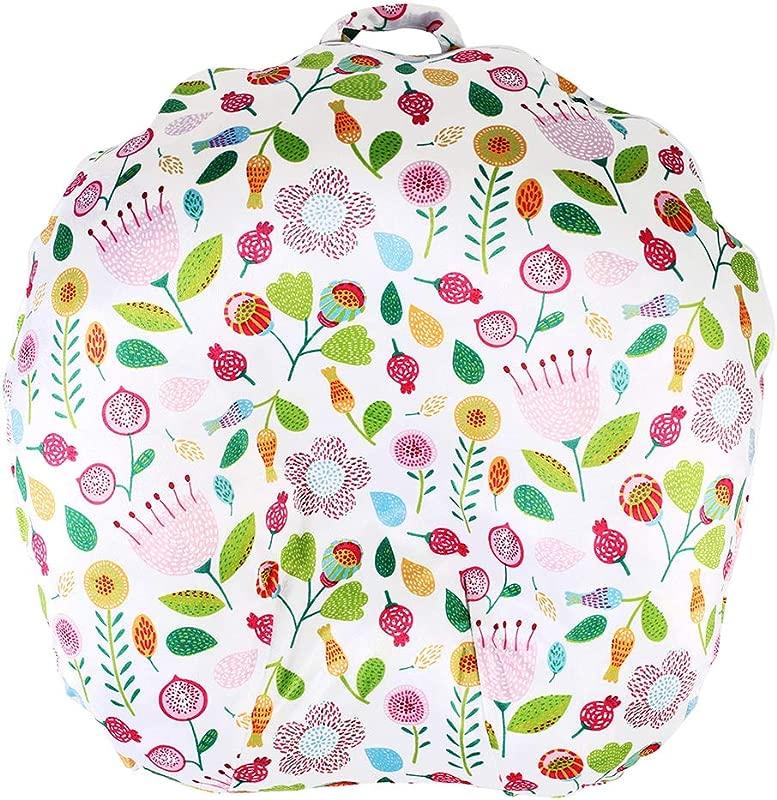 Minky Removable Newborn Lounger Cover Nursing Pillow Slipcover Super Soft Snug Fits Boppy Lounger Cute Flower