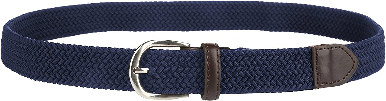 Gelante Children's Canvas Elastic Fabric Woven Stretch Braided Belts