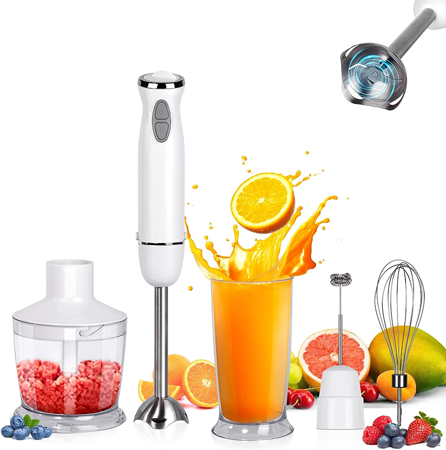 Immersion Blender handheld Rosydawn 1100W NEW before selling Ranking TOP5 ☆ Hand I 5-in-1
