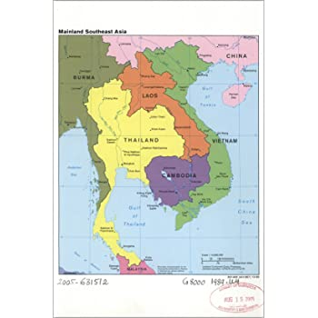laos and cambodia map Amazon Com 24 X36 Gallery Poster Cia Map Vietnam Laos Cambodia laos and cambodia map