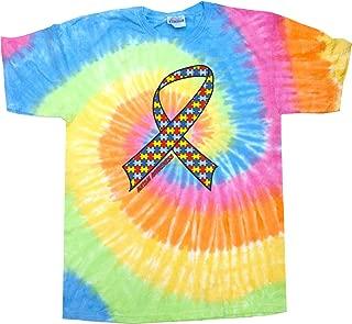 Autism Ribbon Tie Dye Shirt