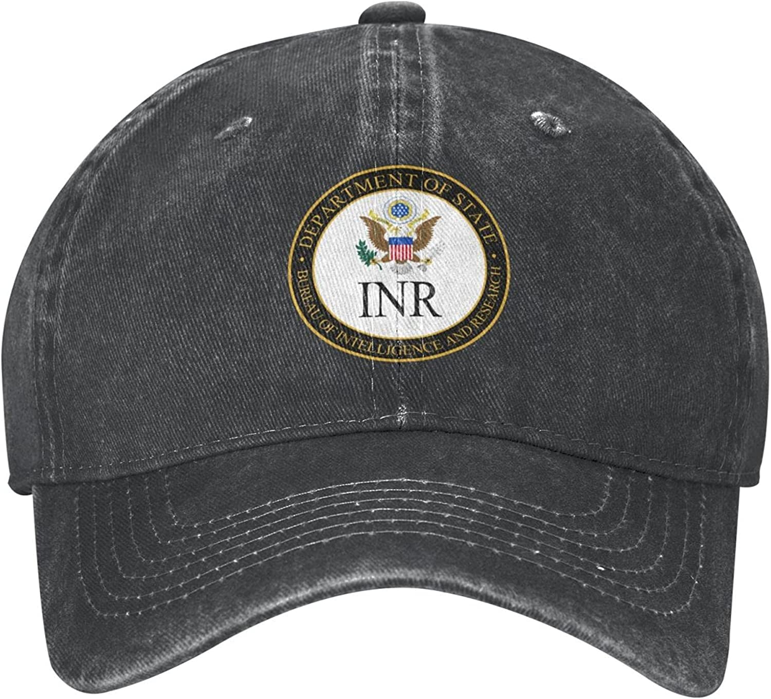 INSPIER WHITE Bureau of Intelligence and Research Seal Cowboy hat Men and Women Adjustable Breathable Outdoor Activities Preferred Black