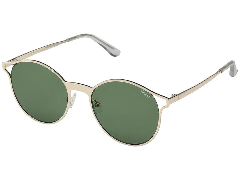 Retro Sunglasses | Vintage Glasses | New Vintage Eyeglasses QUAY AUSTRALIA Here We Are GoldGreen Fashion Sunglasses $60.00 AT vintagedancer.com