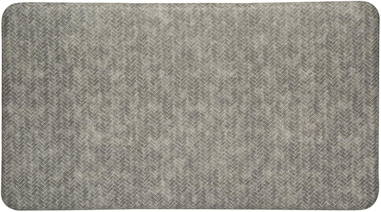 Imprint Cumulus9 Kitchen Mat Chevron Series 20 in. x 36 in. x 5 8 in. Dove