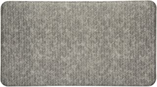Imprint Cumulus9 Chevron Dove Gray Kitchen Mat (20 x 36 x 5/8 in.)
