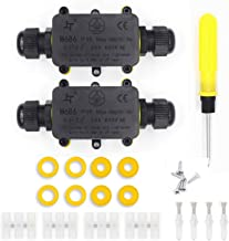 Cajas de Empalmes,IP68 Caja de Conexiones Impermeable Eléctricas para 4 mm-9 mm Diámetro del Cable,Conector Exterior Cable (2 Pack)