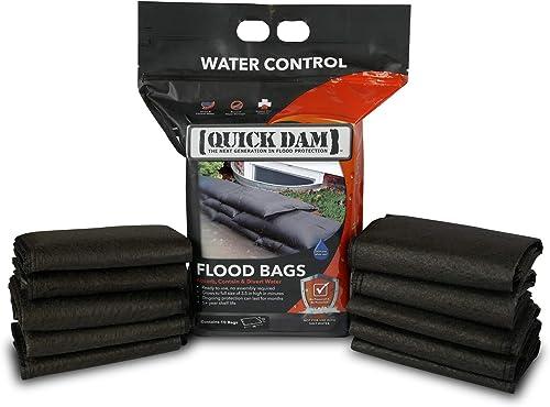"Quick Dam QD1224-10 Flood Bags, 12"" x 24"", Black"