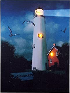 Ohio Wholesale Lighthouse Park Canvas Radiance Lighted Wall Art