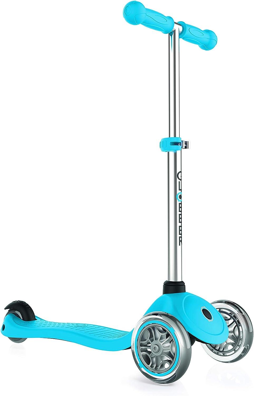 Globber 3 Wheel Adjustable Height Scooter (Light blueee)