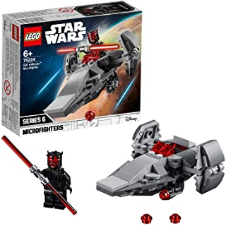 LEGO Star Wars - Microfighter: Infiltrador Sith, juguete divertido de construcción de nave de La Guerra de las Galaxias con Darth Maul (75224)