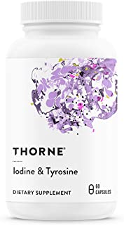 Thorne Research - Iodine & Tyrosine - Mineral and Amino Acid Support for Healthy Thyroid Function - 60 Capsules