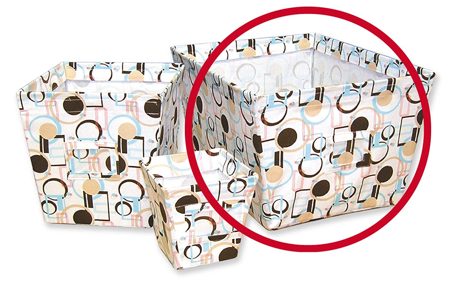 Trend Lab Large Fabric Storage Bin in Cocoa Dots Print