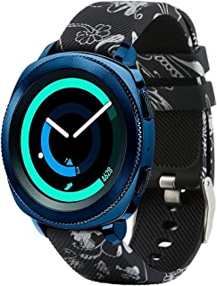 honecumi 20mm Watch Bands for Samsung Gear Sport Soft Silicone 20mm Smart Wristband Watch Strap for Galaxy Watch 42mm/Samsung Gear 2 Classic/Huawei Watch 2 Watch/Garmi Vivoactive 3
