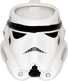 Zak Designs SWRD-8510 Star Wars Ep4 Stormtrooper Ceramic sculpted Mug, Multicolor