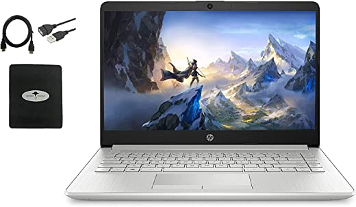 """Newest HP 14"""" HD Laptop for Business and Student, AMD Ryzen3 3250U (up to 3.5 GHz), 16GB RAM, 512GB SSD, Ethernet, USB-A&C, Webcam, WiFi, Bluetooth, HDMI, Fast Charge, Win10 S, w/GM Accessories"""