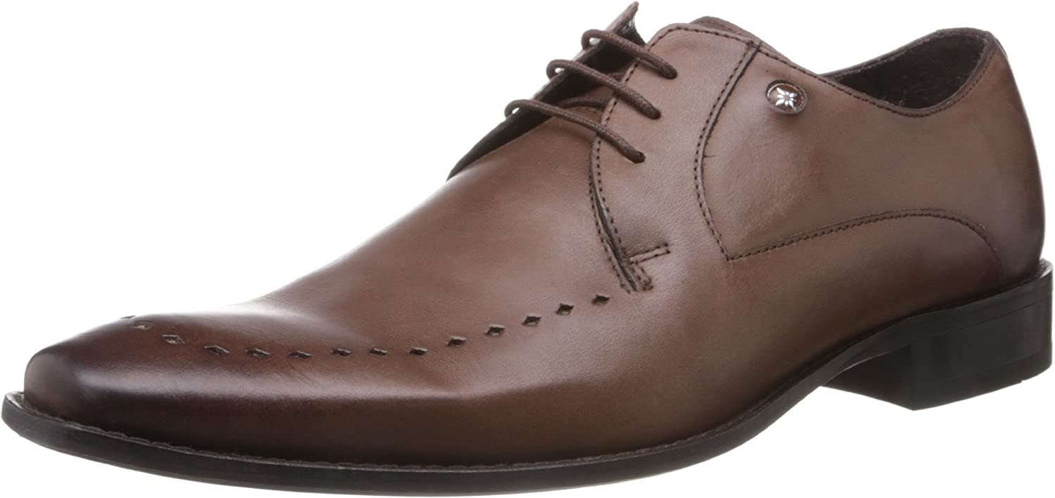 Ruosh Men's Brown Leather Formals shoes - 9 UK India (43 EU)(10 US)(1101400902)