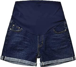 Maternity Jean Shorts Over Bump Summer Denim Shorts Pregnancy Short Pants