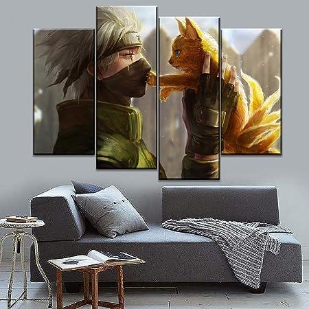 6096-naruto Rasengan Vs Sasuke Poster sur toile et d/écoration murale Motif chambre familiale moderne 20 x 30 cm