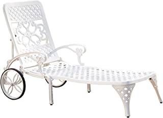 Biscayne White Chaise Lounge Chair by Home Styles