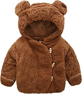 ed1930c8c28 Toddler Baby Boy Girl Cartoon Rabbit Ears Hoodie Winter Warm Clothes Coat