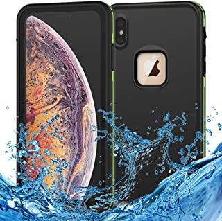 iPhone Xs Max Waterproof Case Support Wireless Charging iPhone Xs Max Waterproof Shockproof Dirt-Proof Full-Body Rugged Cover with Built-in Screen Protector for Apple iPhone Xs Max 6.5 inch