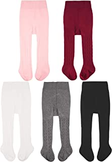 Baby Girls Tights Cable Knit Leggings Stockings Cotton...