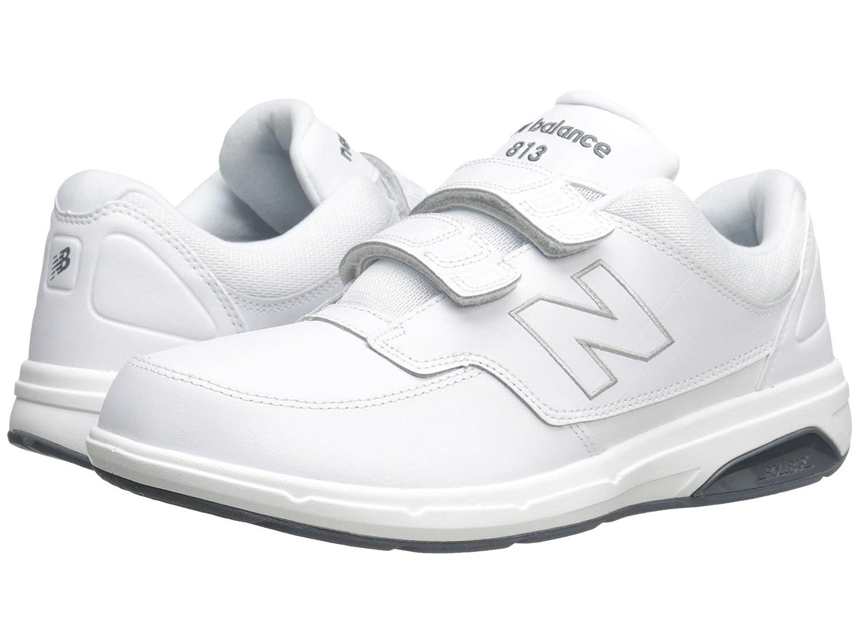 (ニューバランス) New Balance メンズウォーキングシューズ?靴 MW813 Hook and Loop White 10 (28cm) D - Medium