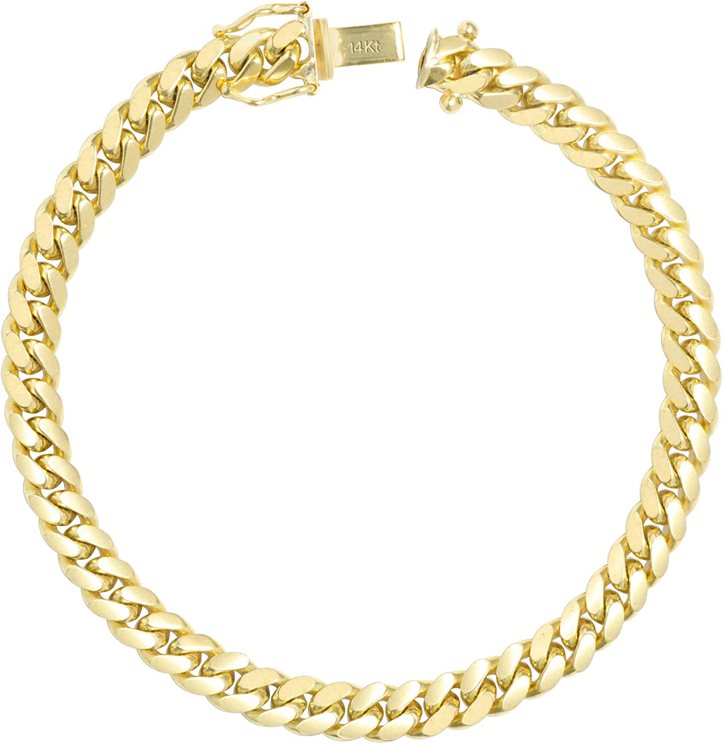 Nuragold 21k Yellow Gold 21mm Solid Miami Cuban Link Chain Bracelet, Mens  Jewelry Box Clasp 21