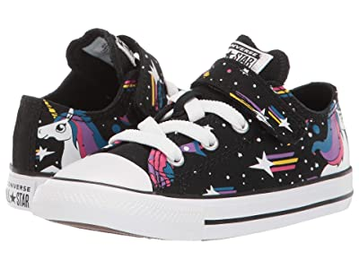 Converse Kids Chuck Taylor(r) All-Star(r) 1V Unicorns Ox (Infant/Toddler) (Black/Blue) Girls Shoes