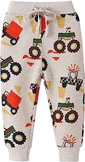 H.eternal(TM) Pantalones impresos de moda para niños de 0 a 6 edades, pantalones deportivos con diseño de dinosaurios y an...