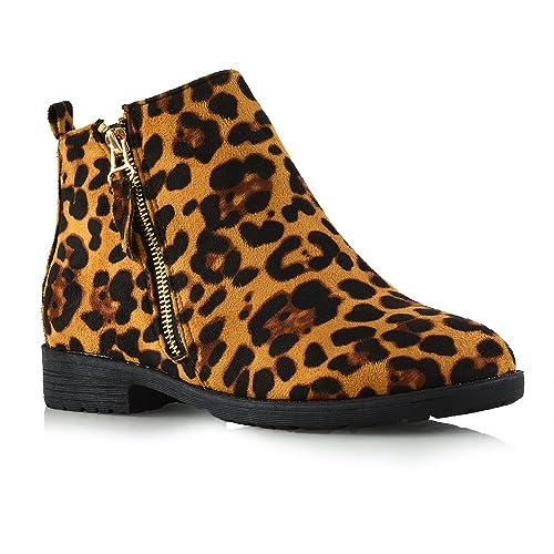 c764f9269d9 Leopard Boots for Women: Amazon.co.uk