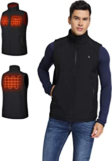 Men's Lightweight Heating Vest 5V Electric Heated Vest with Battery Pack (S-XXL)
