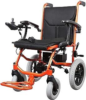 Sillas de ruedas eléctricas para adultos Portátil sillas de ruedas Travel, tracciones silla de ruedas eléctrica sin escobillas motores de doble batería de litio for los ancianos discapacitados, Adulto