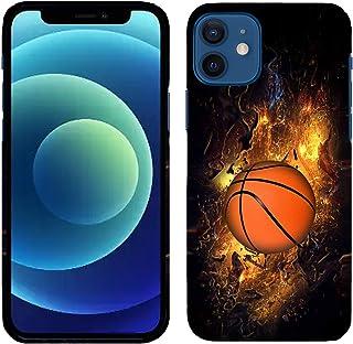 Glisten iPhone 12 Mini Case - Basketball on Fire Printed Slim Profile Cute Plastic Hard Snap on Designer Back iPhone 12 Mi...