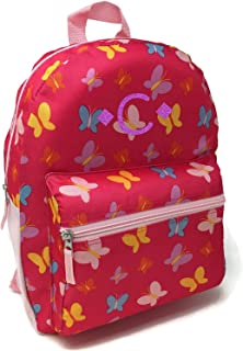 Red and Black Grey with Vinyl Kids Monogram D Monogrammed Me Xcape Backpack