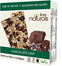 Libre Naturals Chocolate Chip Chewy Granola Bars - Vegan, Gluten-Free, Kosher, Nut-Free, Non-GMO, Dairy-Free, No Artificia...