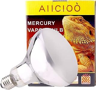 AIICIOO UVB UVA Bombilla Calor de Reptiles y Anfibios Promover la Síntesis D3 para Tortuga/