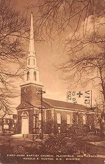 Plainfield New Jersey First Park Baptist Church Antique Postcard K39434