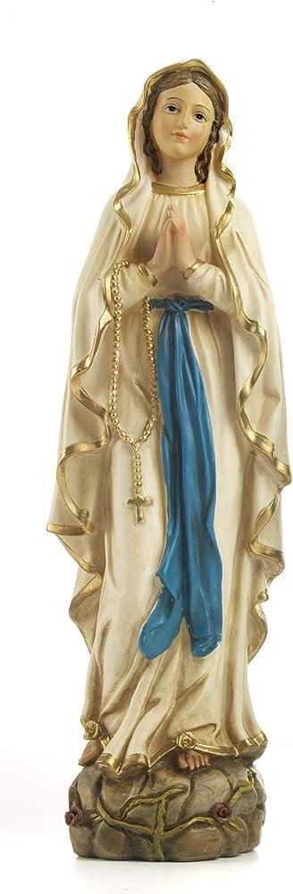 Articoli religiosi by paben, statua di maria madonna di lourdes, in resina cm 30