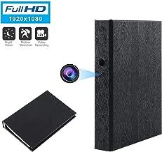 GooSpy Spy Camera Book Hidden Camera HD 1080P Nanny Camera Covert Home Security Cam Motion Detection Video Recorder 10000mAh Battery Super Night Vision (A)