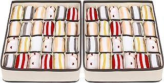 Drawer Organisers Dividers - Joyoldelf 2 Packs Wardrobe Organiser, 24 Cell Collapsible Closet Cabinet Organizer Underwear ...